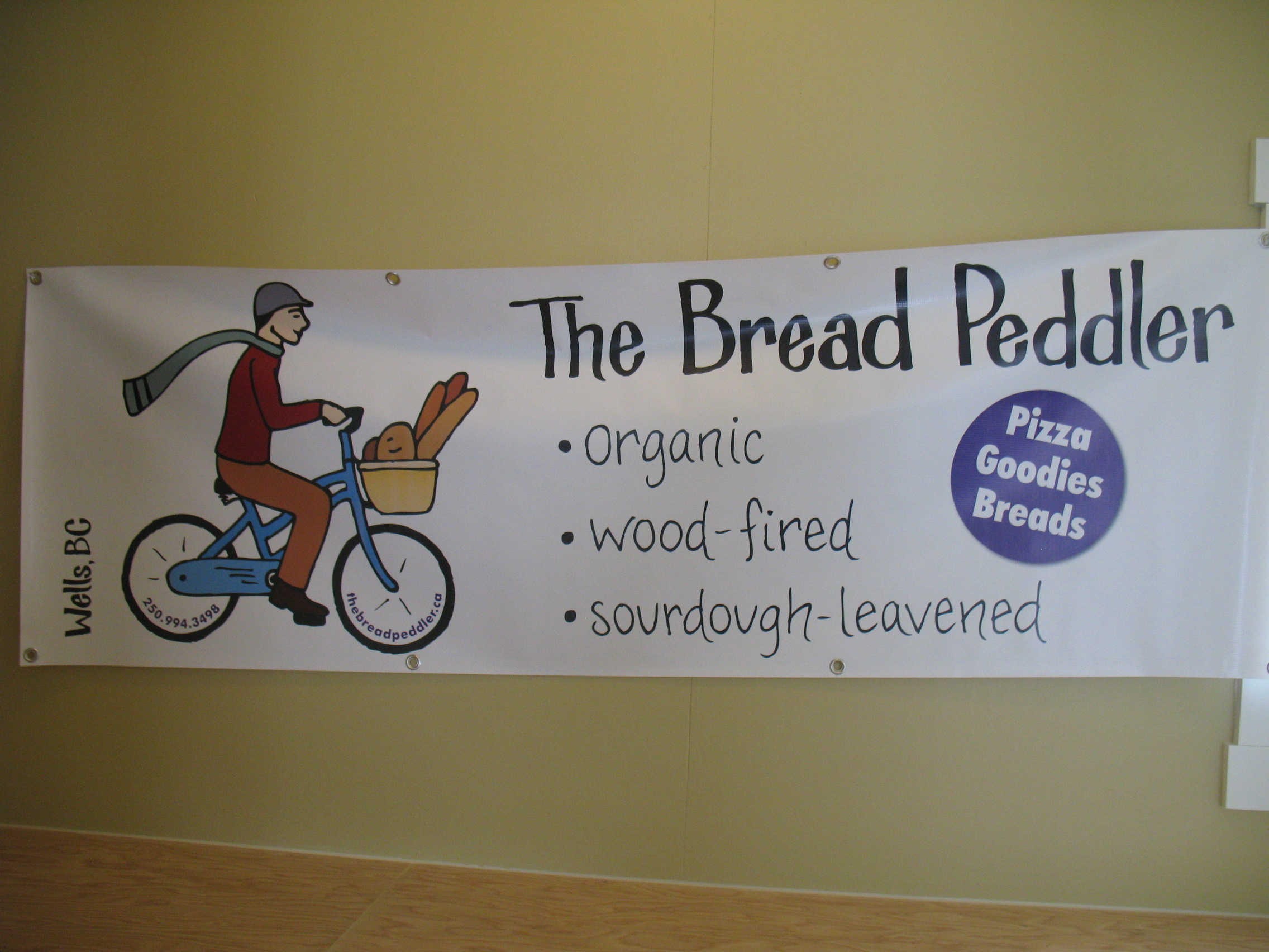 The banner for the Farmer's Market.