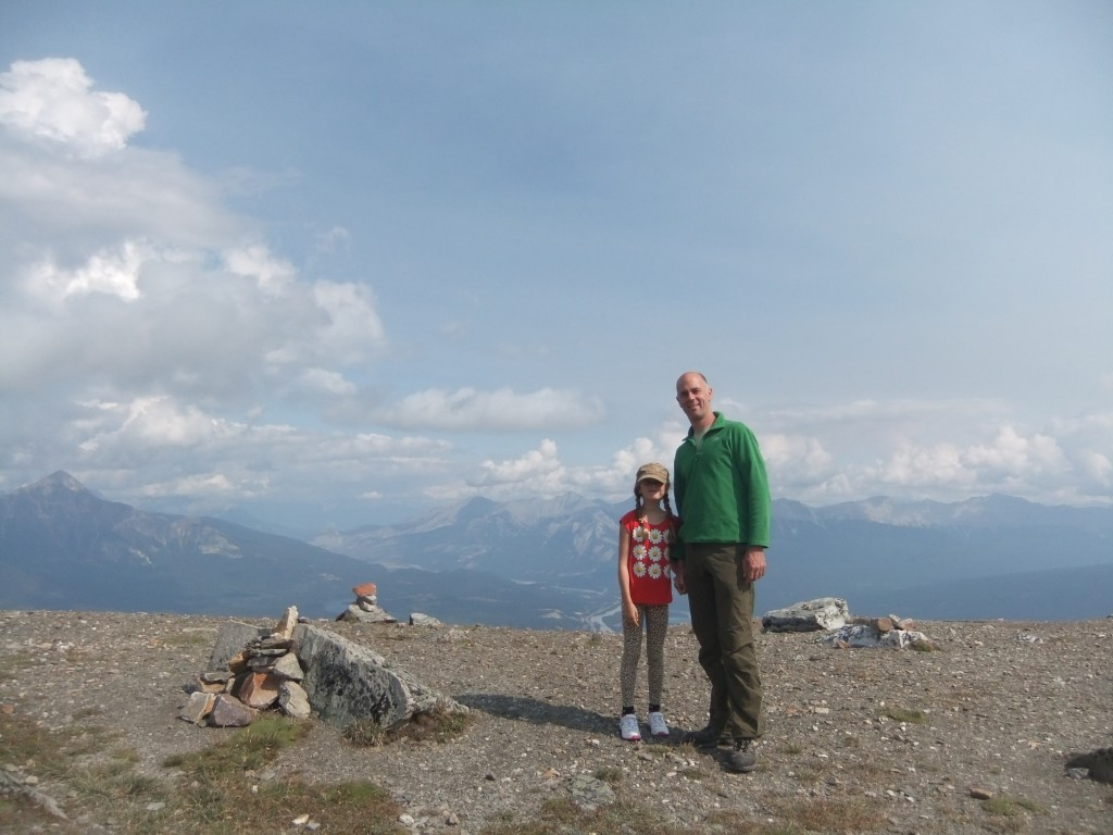 Tim and Sally on top of Whistler's Mountain in Jasper National Park.