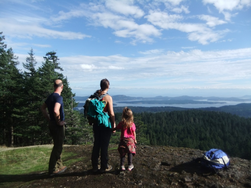 Hiking up Mount Maxwell on a beautiful Salt Spring Island day.