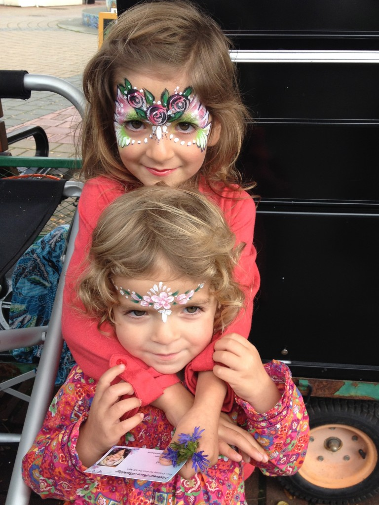 "Aren't they GORGEOUS?! Mom said ""No"" to face-painting and then went off shopping, leaving the little gems in Anti-Kate's care. And Anti Kate couldn't resist!"