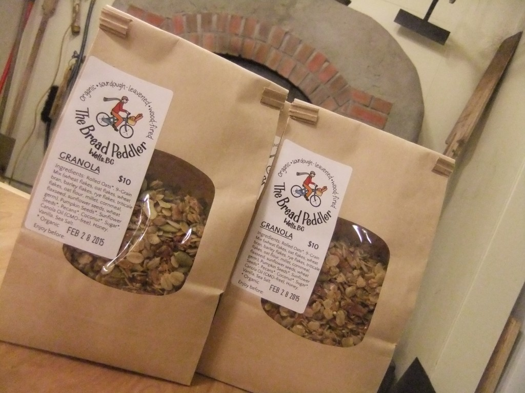Bread Peddler granola! Baked in the falling heat of the brick oven, at least a day after the last load of bread.