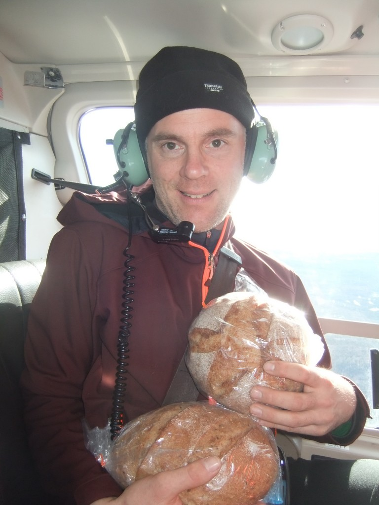 Bread in the helicopter.
