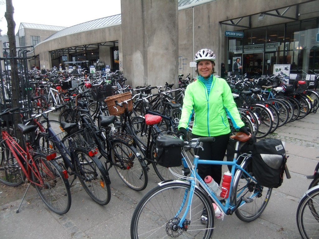 Me, with a few bikes in Copenhagen.