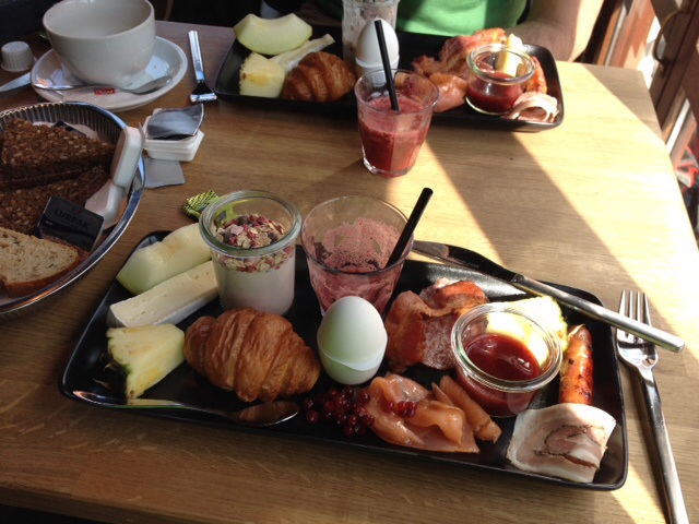 A wonderful Danish brunch at a café in Skagen, at the northern tip of Jylland.
