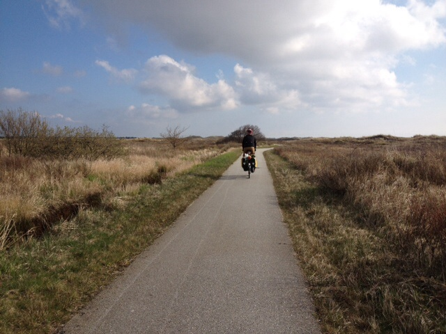 Cycle route across the moors/dunes to the northern-most part of Denmark, about 58 degrees of latitude.