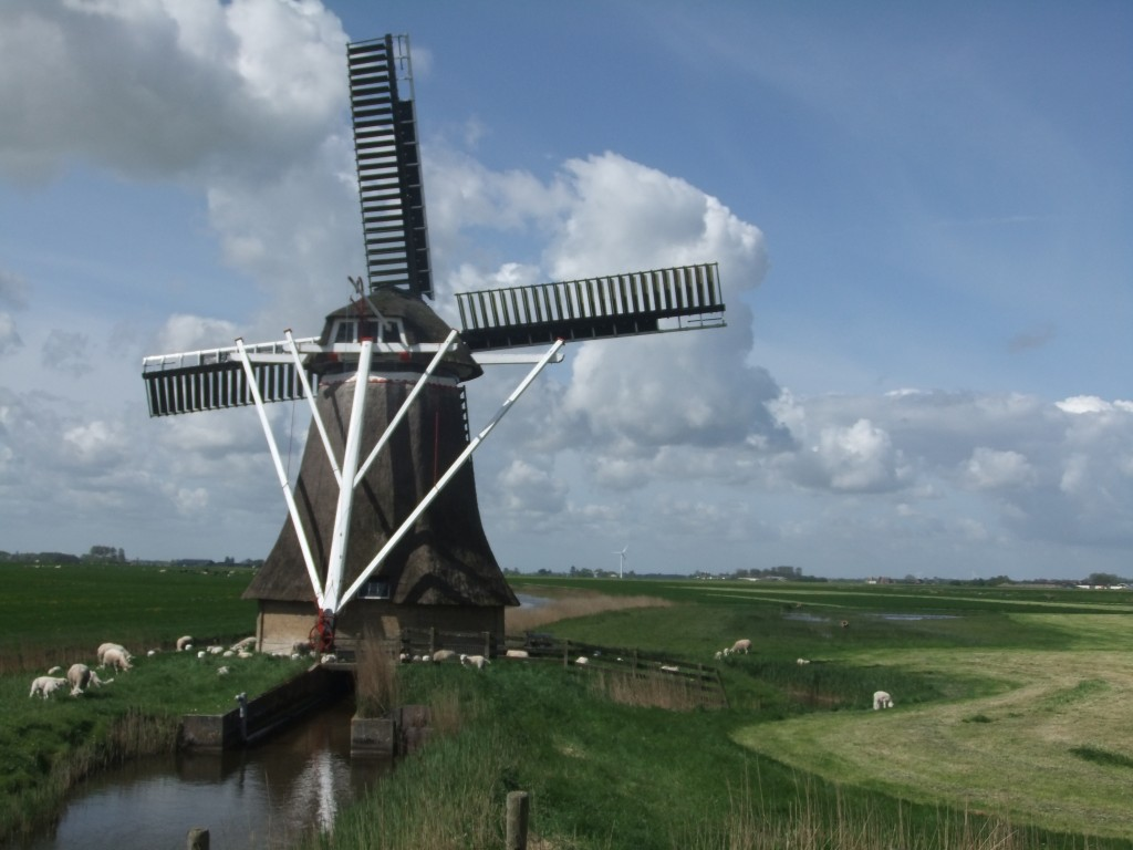 Windmills, old and new.