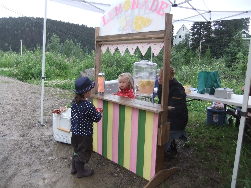 Lemonade sales at the Wells Farmer's Market.
