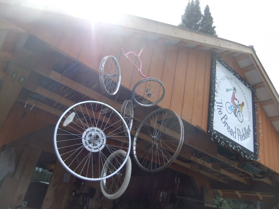 Bicycle-wheel wind chimes. For gale-force winds.