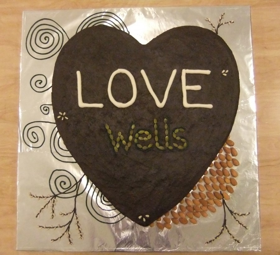 "Scrumptious ""Love Wells"" cake made by a certain someone at The Bread Peddler."