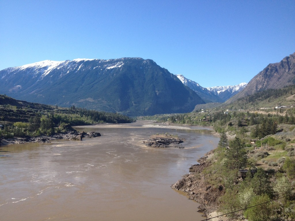The Fraser River at  Lillooet.