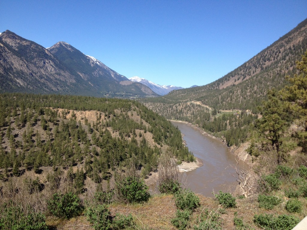 Between Lillooet and Lytton.