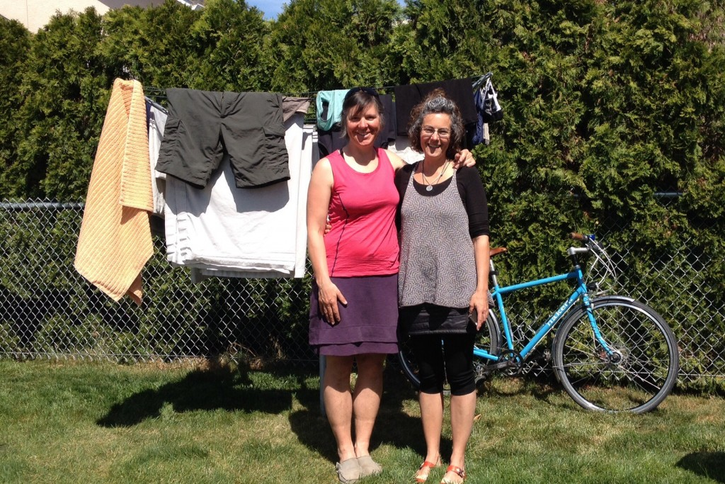 Kate, Helene, the clean washing, the clean and tuned bike, the sunshine!