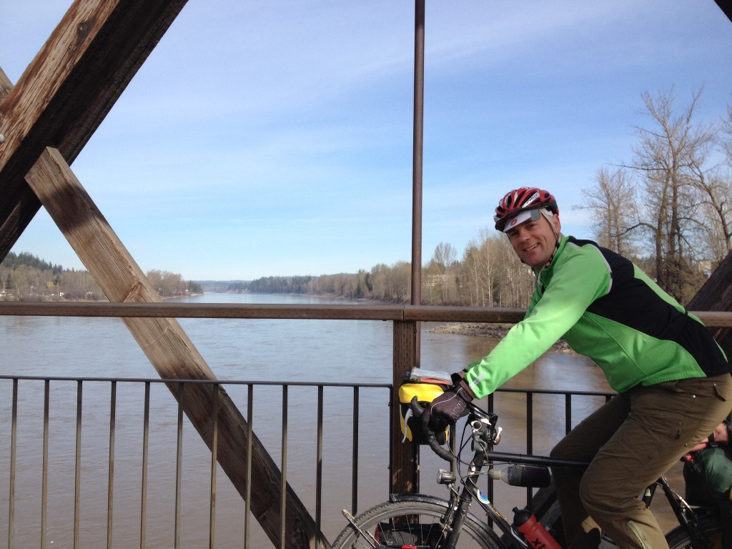 Our first encounter with the Fraser River - we cross to the west side of the river in Quesnel to begin following it south.
