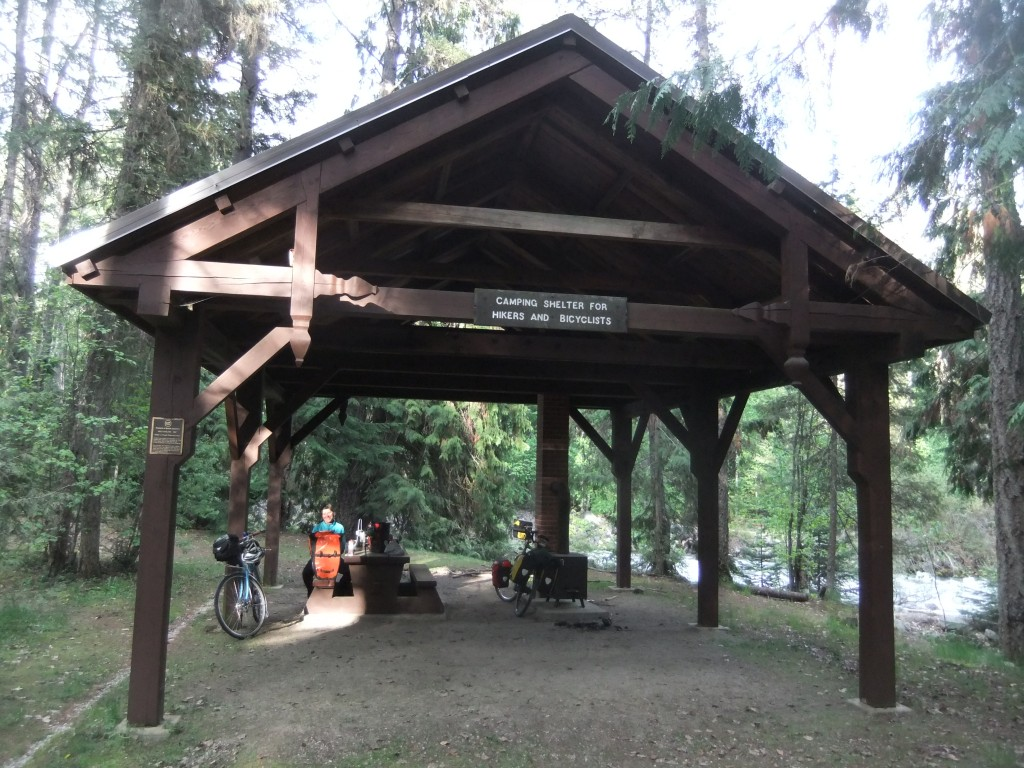 Hiker-Biker campground at Kokanee Creek Provincial Park. Everything we needed!