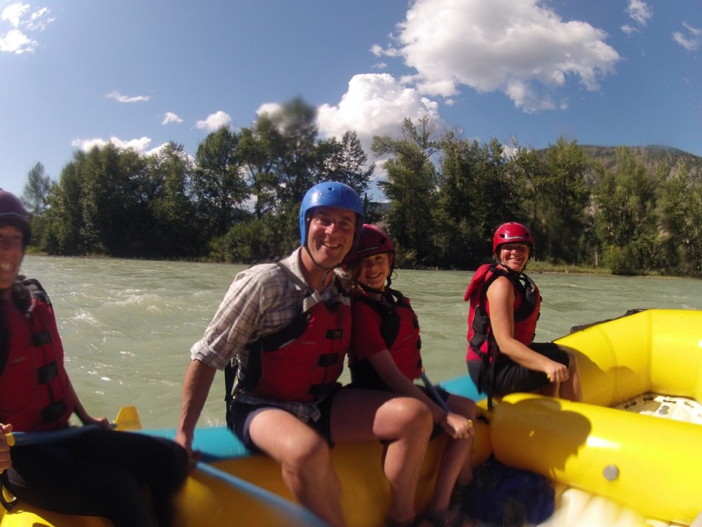Rafting on the gorgeous Chilcotin River.