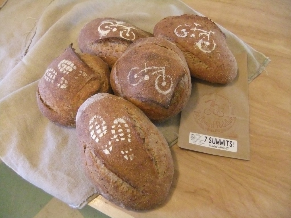 You too could have one of these cool loaves of bread - all you have to do is hike and bike your brains out for 7-13 hours!