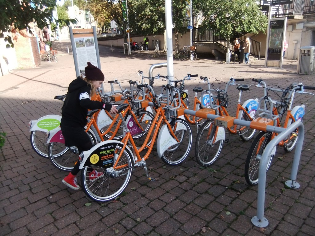 They find the cool city bikes to rent…..
