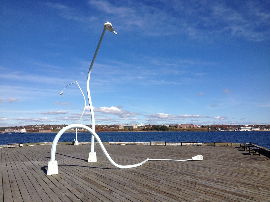 Cool public art on the Halifax waterfront.