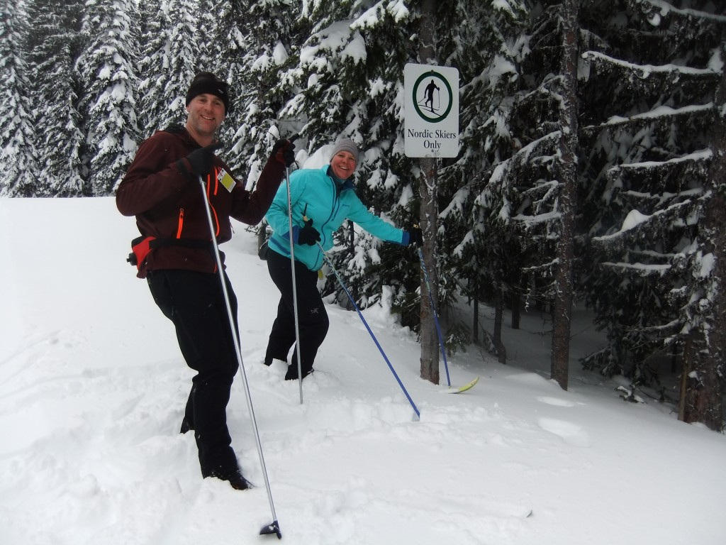Nordic skiing at Silver Star Resort - a fabulous and HUGE network of trails for Nords.