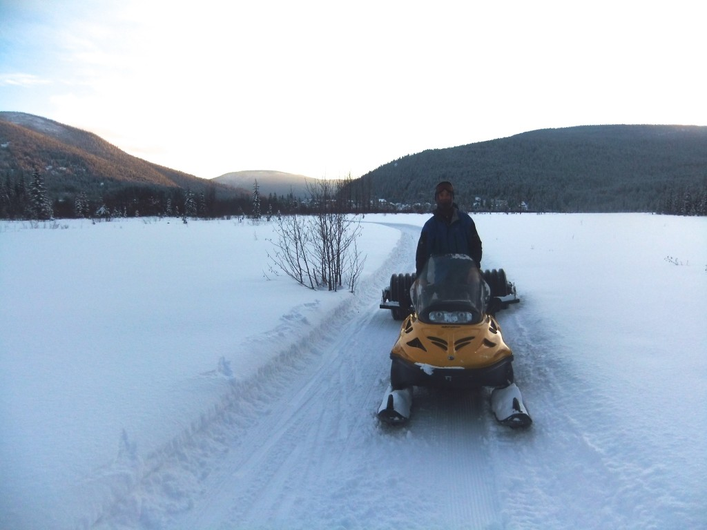 Tim and his grooming rig.