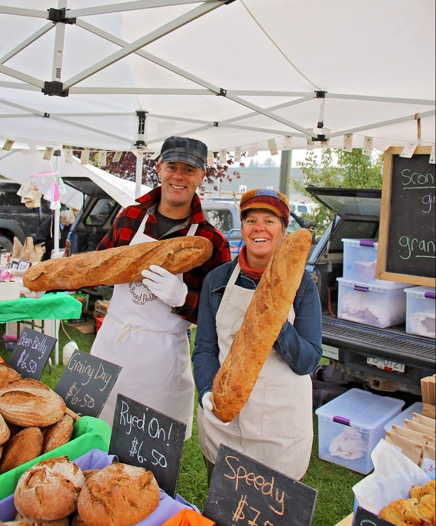 2 kg loaves of Holey Hannah at last week's Customer Appreciation feast at the Quesnel Farmer's Market. photo: David Webb/Haystack Photography
